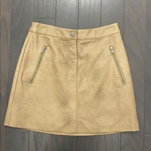 Cute tan leather skirt